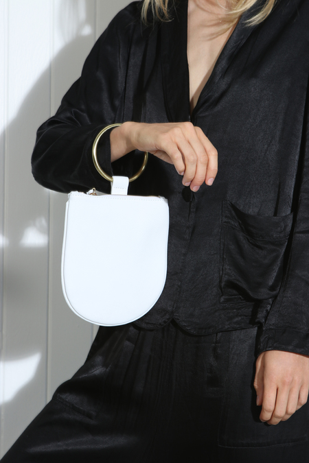 MYERS COLLECTIVE MEDIUM RING POUCH - WHITE