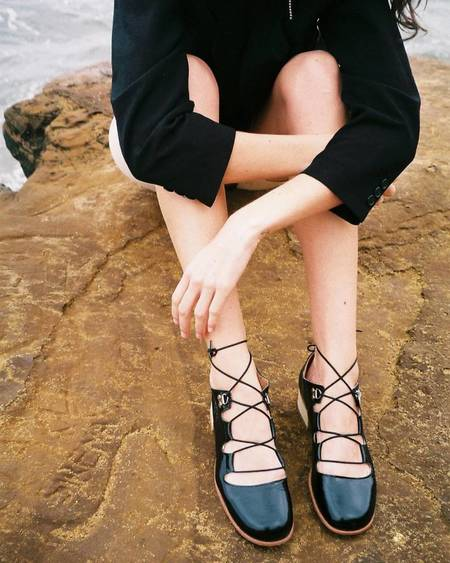 Post Sole Studio Dance Leather Shoe - Black