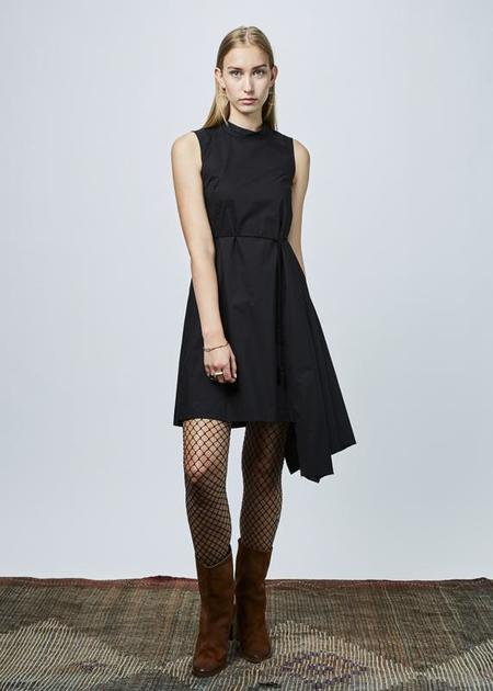 Ter et Bantine Sleeveless Bias Cut Dress - Black