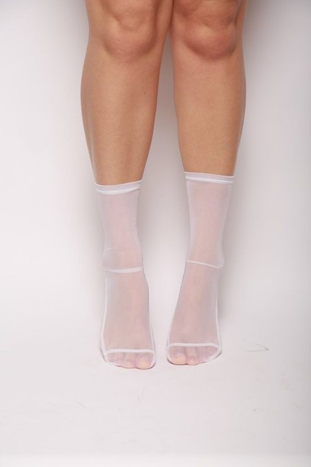 darner Mesh Socks - White