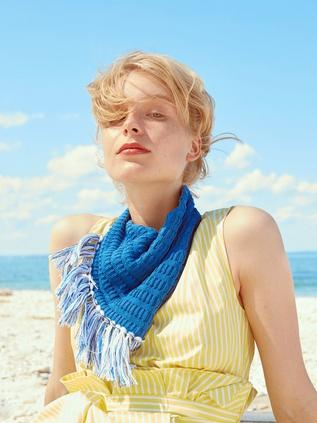 Elyse Maguire Lightweight Little Knotty Scarf - Buoy Blue