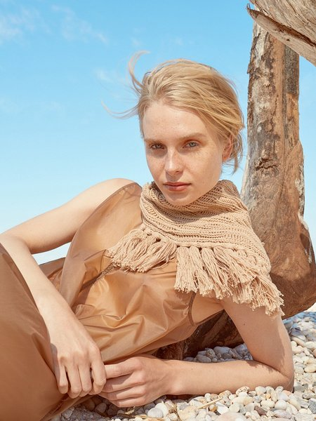 Elyse Maguire Little Knotty Scarf - Dune