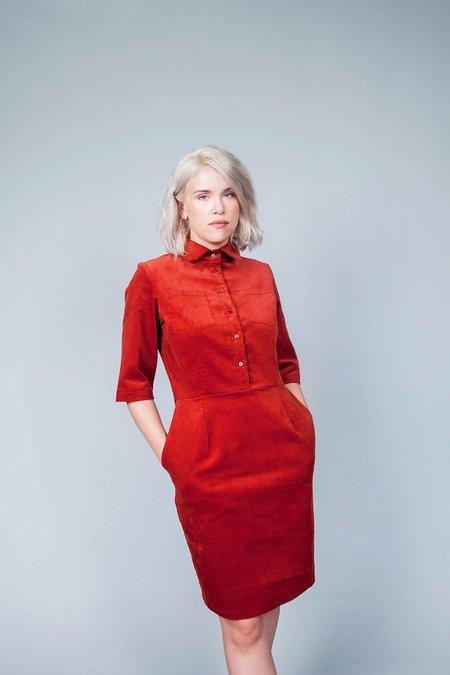 Jennifer Glasgow Heart Dress - Rust