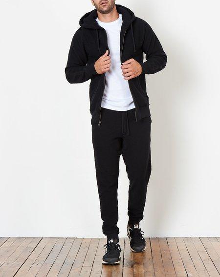 Saturdays NYC JP Tape Zip Hooded Sweatshirt - Black