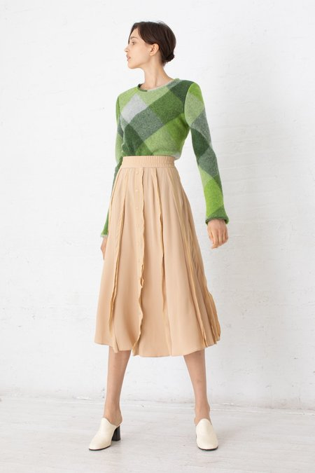 Veronique Leroy Skirt with Ruffles - Straw