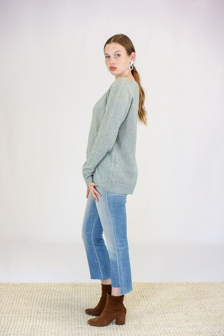 Duffy V-Neck Cashmere Sweater - Green Ghost