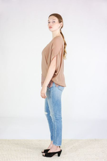 Gold Hawk Silk Top and Cami Georgette - Rose Taupe