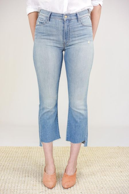 Mother Denim The Insider Crop Step Fray - Shake Well
