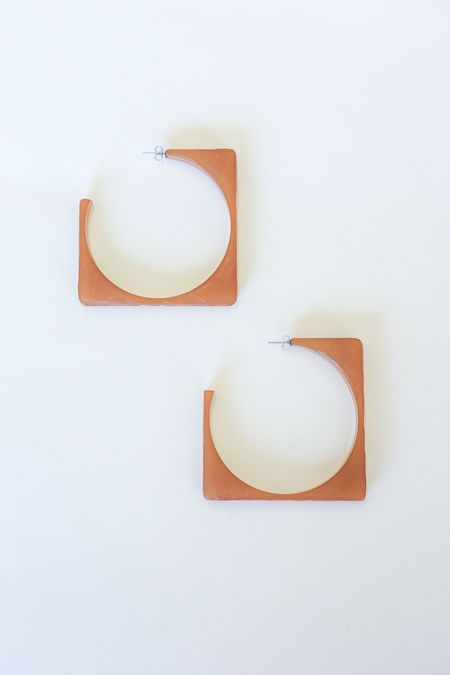 Rachel Comey Tuck Earrings - Amber