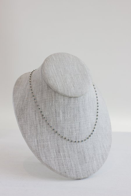 Knits by Dawn Dawn Bryfogle blue diamond necklace