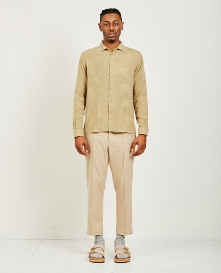 YMC DOUBLE STRIPE CURTIS SHIRT - SAND