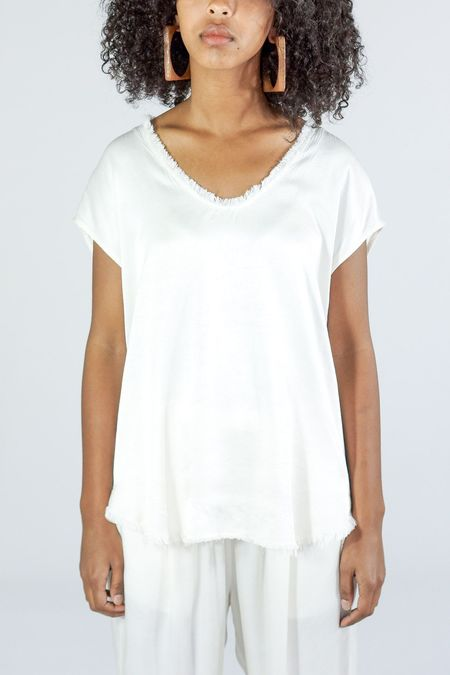 Raquel Allegra Satin Shell Top - Shell