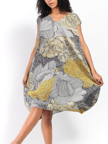 Issey Miyake Pleats Please Printed Pleats Dress