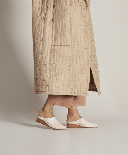 Feit for Garmentory Ceremonial Wedge Mule - Raw White