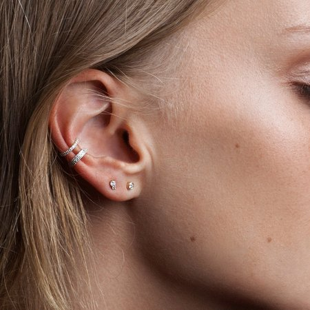 Adina Reyter Double Wide Pave Ear Cuff