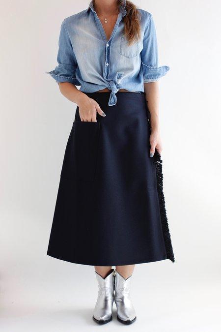 Sofie D'Hoore Skill Wrap Skirt - Navy