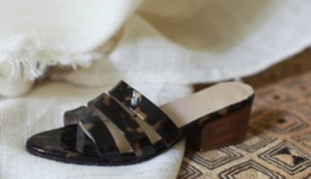 Ceri Hoover MURPHY sandal - TORTOISE PATENT