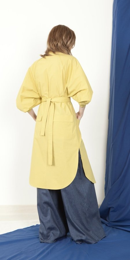 Schai Eclipse Artisan Shirtdress - Chartreuse
