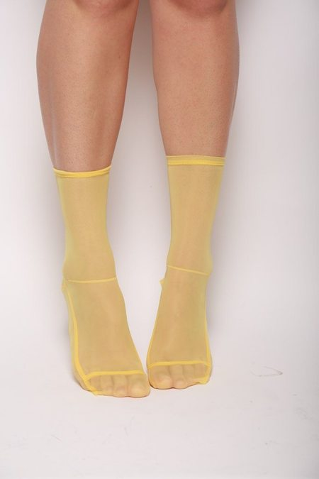 darner Mesh Socks - Yellow