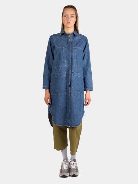 Kloke Finale Pocket Dress - Mid Wash Indigo