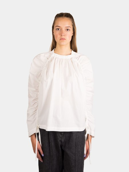 Kloke Swing Ruched Shirt - White