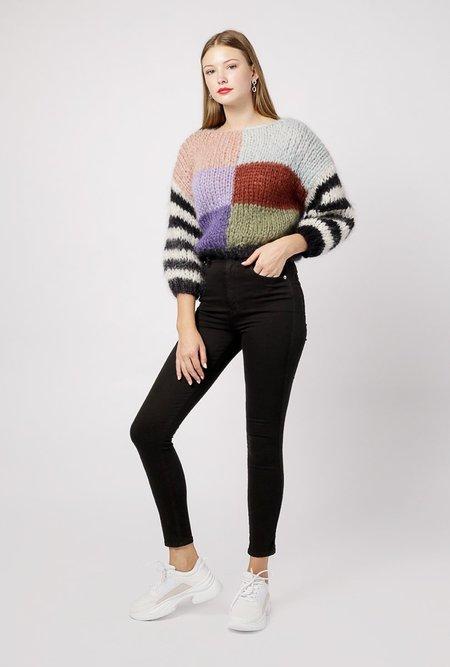 Maiami Big Mohair Square Sweater - Multi