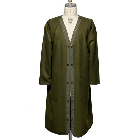 Unisex Monitaly French Army Trench Coat Lining - Olive Green