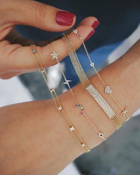 EF Collection Diamond Cosmic Charm Bracelet - 14k yellow gold