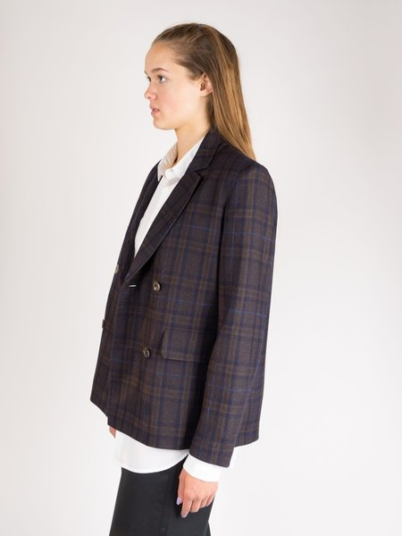Norse Projects Gerta Checked Wool Jacket - Ombre