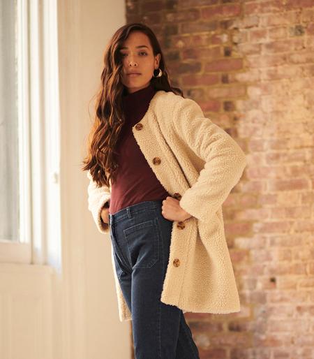 Loup NYC Carly Shearling Jacket