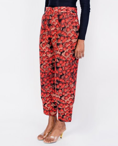 Eve Gravel Lonely City Jacquard Pants - Fleurs