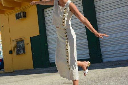 Norte Estelas Linen Skirt - Natural