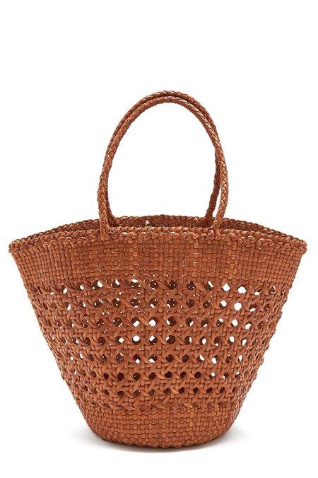 Dragon Cannage Myra Basket Tote Bag - Tan