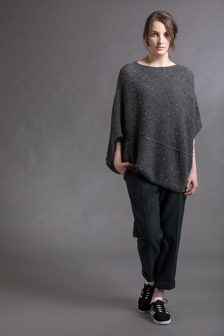 Paychi Guh Panel Coverup - Charcoal