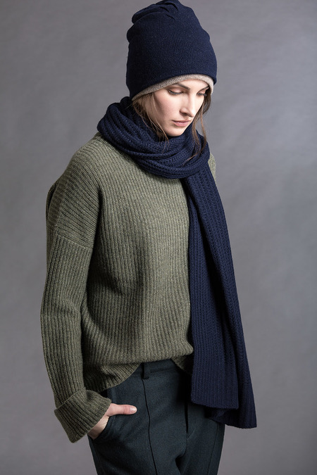 Paychi Guh Cashmere Relaxed Pullover - Army Green