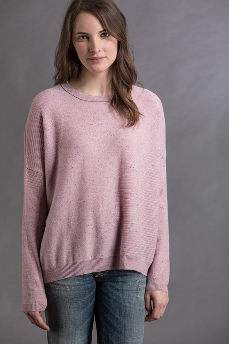 Paychi Guh Cashmere Textured Crew - Rose Speckle
