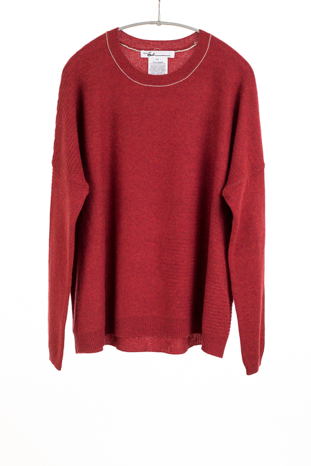 Paychi Guh Cashmere Textured Crew - Red Pepper