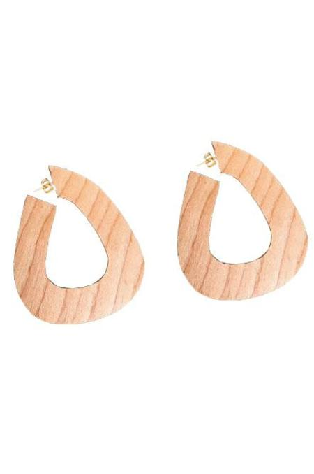 Sophie Monet Jewelry Bell Hoops - Maple