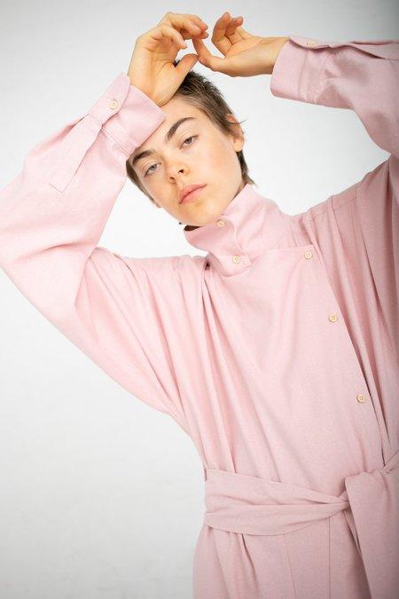 Baserange Aorta Raw Silk Jumpsuit - Lumbar Pink