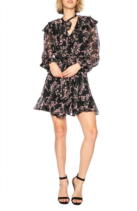 Zimmermann Fleeting Flounce Dress - Black Wisteria Floral