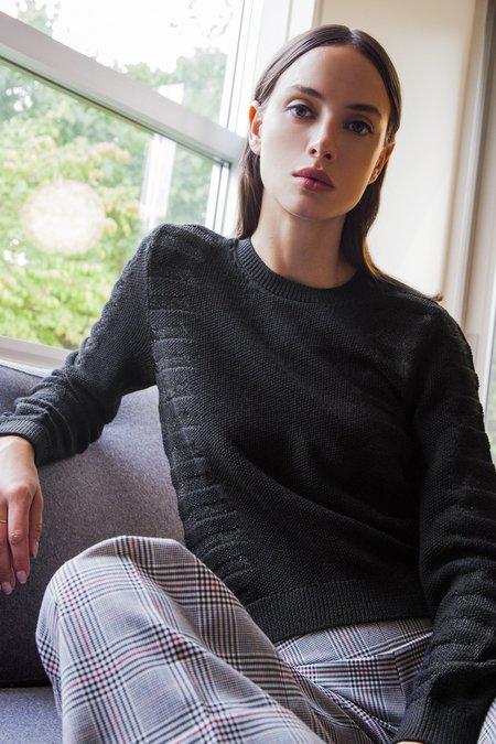 MILA ZOVKO NATALIA Sweater - Black/Metallic Black