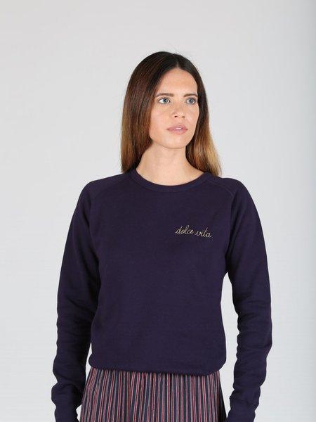Maison Labiche Dolce Vita Sweatshirt - NAVY