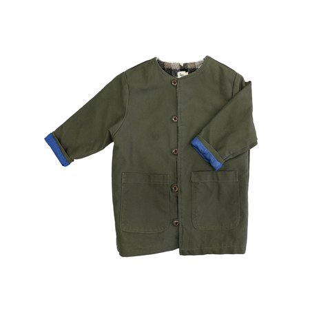 KIDS nico nico Springsteen Reversible Coat - OLIVE