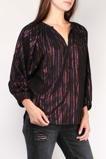 Apiece Apart Isla Blouse - Multi Stripe