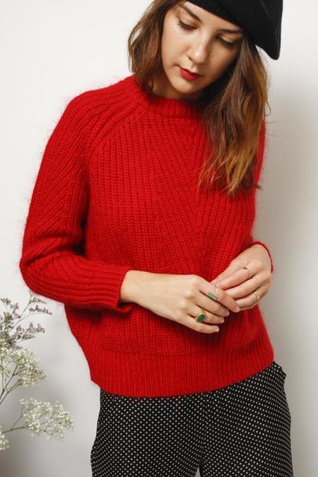 Demy Lee Chelsea Sweater - Carmine