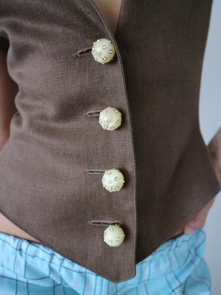 Vintage HOH Curate Valentino Vest - Brown