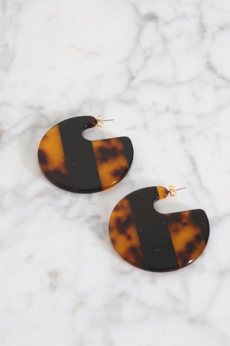 Rachel Comey Camille Earrings - Striped Tortoise