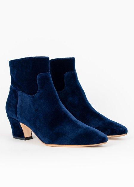 Miista Lorelle Velvet Ankle Boots - DARK NAVY