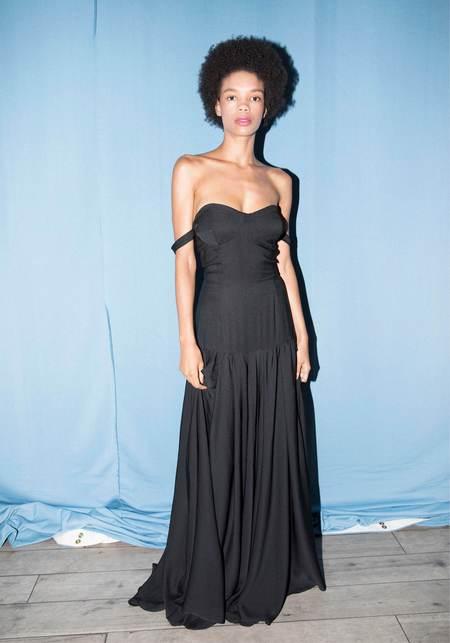 Studio One Eighty Nine Silk Evening Gown - Black