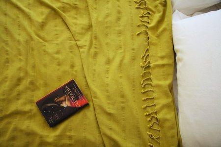 Thalassa Home Kaya Blanket  - Mustard